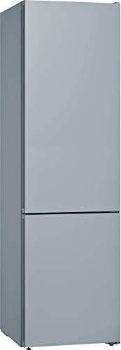 Bosch KGN39IJ4A Serie 4 Vario Style Freistehende Kühl-Gefrier-Kombination/austauschbare Farbfront/A+++ / 203 cm / 182 kWh/Jahr/Chrome inox-metallic / 279 L Kühlteil / 87 L Gefrierteil/NoFrost