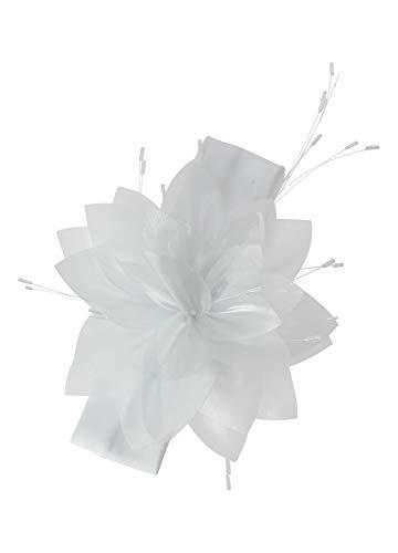 bandeau baptême blanc pour bébé avec grosse fleur