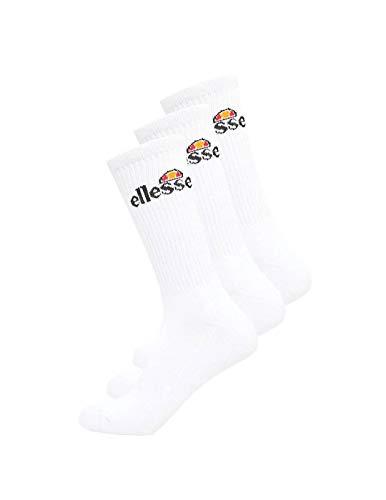 Ellesse Bisba 3 Pack Sport Socks Calcetines, Hombre, White, 3_5.5