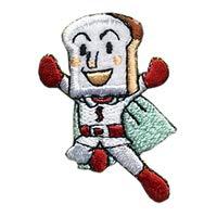 アンパンマン ワッペン 刺繍 アイロン接着 ドキンちゃん キャラクター アップリケ アイロンワッペン かわいい シール ステッカー (しょくぱんまん)
