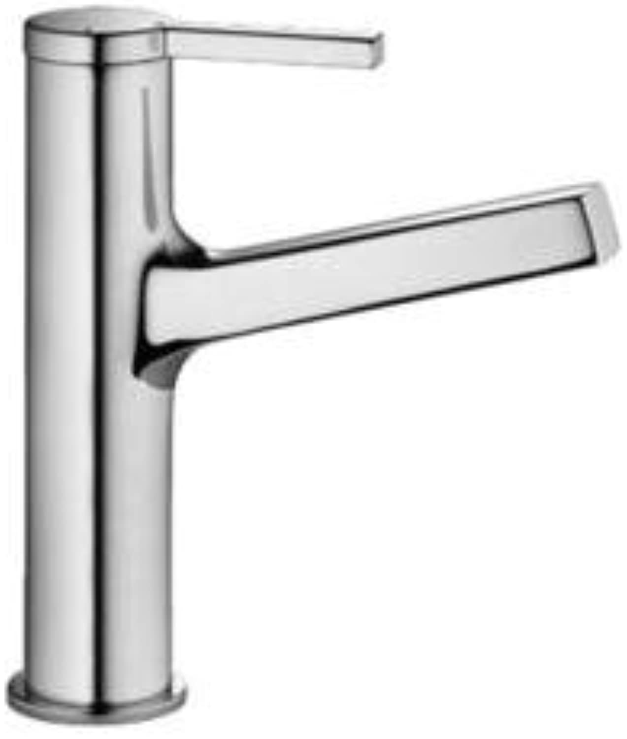 KWC 12.191.032.127 - Ava Single Lever Basin Mixer Fixed Spout W Pop-Up - Splendure Stainless Steel