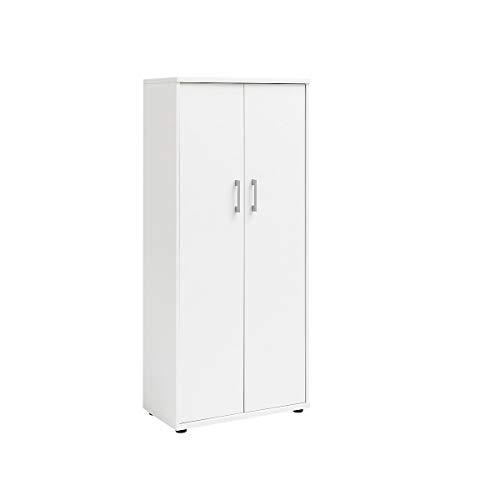 Möbelpartner Aktenschrank DELTA | HxBxT 1470 x 650 x 340 mm| weiß | Aktenregal Schrank Regal Büroschrank Schiebetürenschrank
