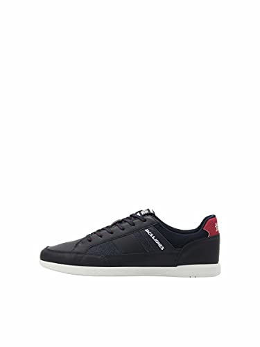 JACK & JONES Herren JFWBYSON PU Sport Combo Navy Blazer Sneaker, 42 EU