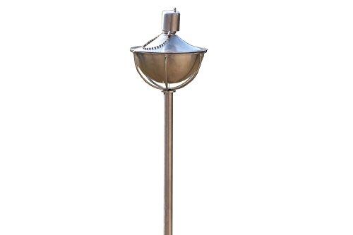 OUTFLEXX Gartenfackel, polierter Edelstahl, ca. 132 cm, rund, ca. 4 Std. Brennzeit
