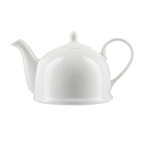 Jameson+ Tailor Iglu Teekanne Kaffeekanne 1,1l Porzellan weiss vegan