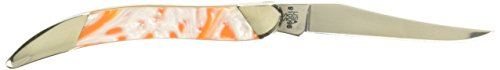 CASE XX Slant Series Tennessee Orange Small Toothpick 1/2500 Stainless Pocket Knife Knives