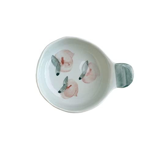 Platos de aperitivo Placas de salsa de estilo japonés Pintado a mano de cerámica Placas de condimento con mango corto Ketchup Bowls Mini Appetizer Sushi Sirviendo platos Platos para servir bocadillos