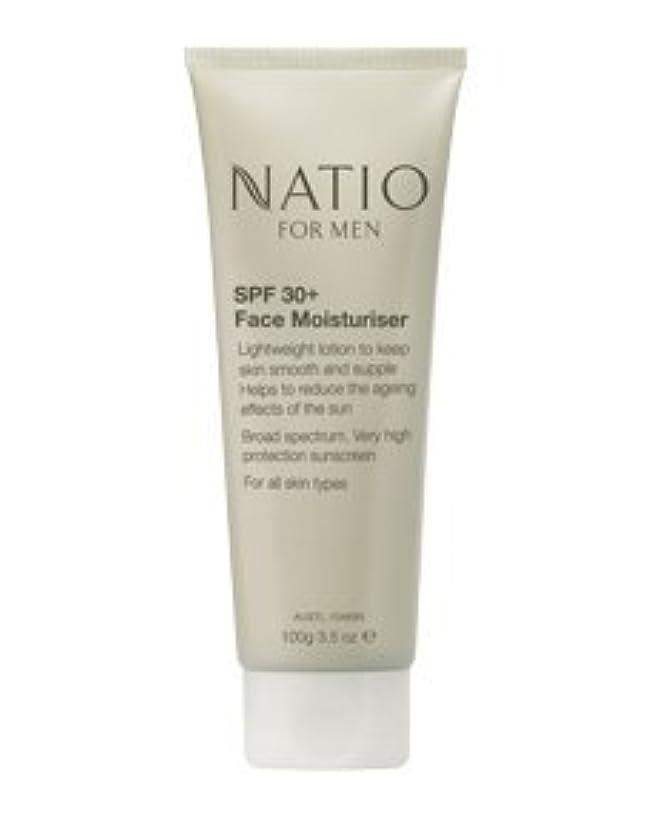 センチメートル受ける不承認【NATIO FOR MEN SPF 30+ Face Moisturiser】 ナティオ  SPF 30+ フェイス モイスチャライザー [海外直送品]