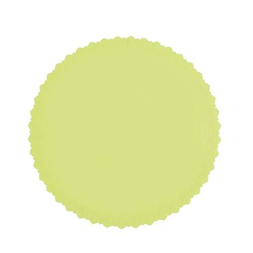 BESTONZON Le Bol en Silicone protège Les couvercles Extensibles réutilisables (Vert 22,5 cm de diamètre)