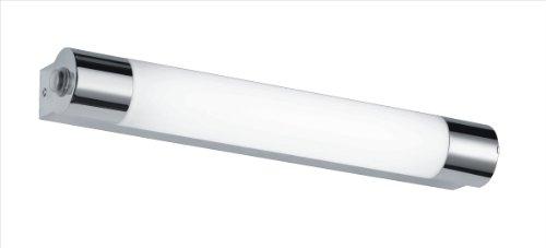 Trio Leuchten LED-Bad-Wandleuchte in Chrom, inklusive 1 x 6W LED mit Schalter und Steckdose, Breite 44 cm 281570606