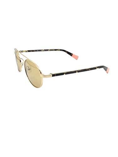 MR WONDERFUL MW 29023 101 50,gafa sol metal dorado,ovalada,lentes en marrón.POLARIZADA.