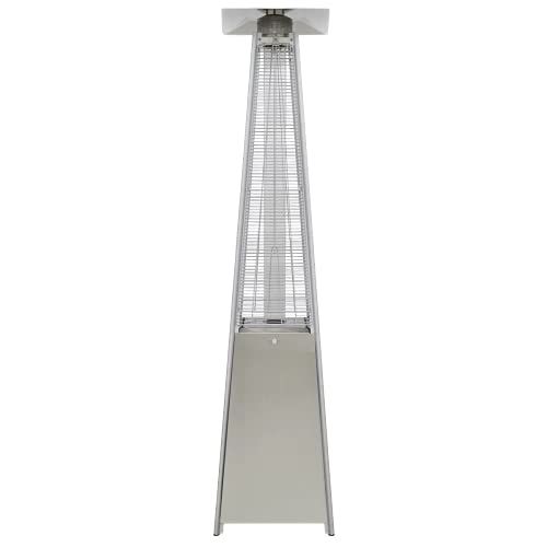 Dellonda Freestanding Gas Outdoor Garden Pyramid Patio Heater Suitable for Commercial & Domestic Use 13kW - Stainless Steel