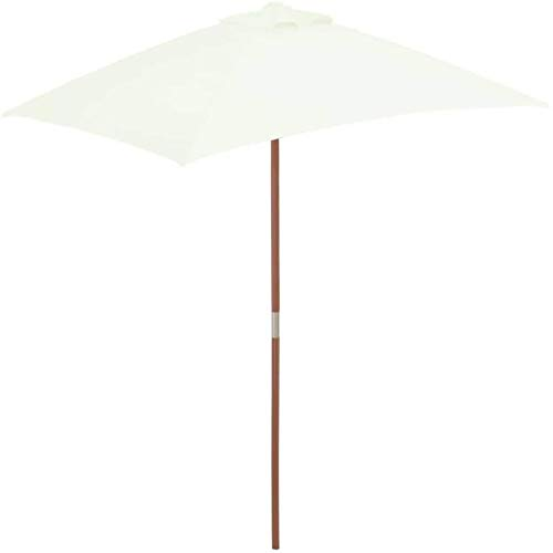 ZA Outdoor Sunshade, 150200CM Outdoor Protection Wood Pole Windproof, Rainproof and UV Resistant Awning is The Best Choice for Garden Beach Terrace 7.21