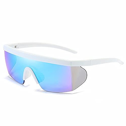 Suufghf Gafas de sol protectoras para exteriores, almohadillas nasales de silicona multicolor, gafas de sol deportivas de película verdadera (A-12)
