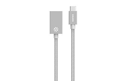 KANEX USB CThunderbolt 3 auf USB 30 Adapter aus Aluminium Silber volle USB 30 Geschwindigkeit USB C mannlich auf USB A weiblich 21 Zentimeter langes Kabel K181 1034 SV8I