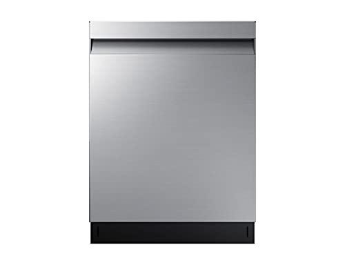 Samsung DW7500 Teilintegrierter Einbau-Geschirrspüler DW60R7050US/EG, Breite 59,8 cm, 14 Maßgedecke, Automatische Türöffnung, Leise-Funktion, Hygiene-Funktion, Silber