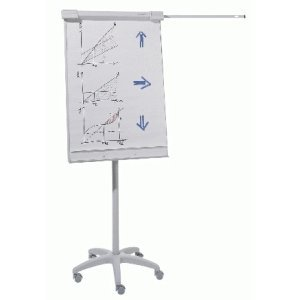 Dahle Flipchart Team grau Tafel 70x90cm Aufstellhöhe 200cm