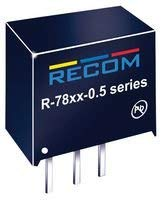 RECOM POWER R-786.5-0.5 Non Isolated Board Mount DC/DC Converter, SIP, Through Hole, 1, 3.25 W, 6.5 V, 500 mA (100 pieces)