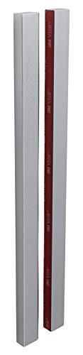 Gedotec Design - Tirador para puerta de cristal para pegar (cuadrado, para puertas de cristal, 1 par, adhesivo para puertas correderas y de habitaciones), color plateado