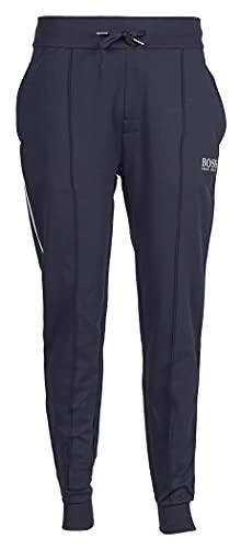 BOSS Herren Tracksuit Pants Jogginghose aus leichtem Baumwoll-Mix mit Beinbündchen