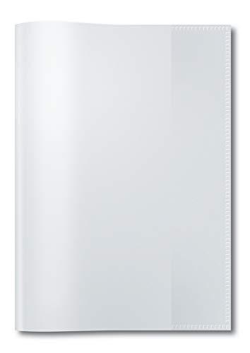 HERMA 7480 Heftumschlag DIN A5 transparent, durchsichtig, aus strapazierfähiger und abwischbarer Polypropylen-Folie, 1 Heftschoner für Schulhefte, durchsichtig