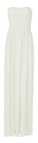 Fast Fashion Damen Maxi Kleid Plus Größe Plain Umführungsvorrichtung Bandeau