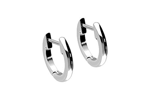 Pendientes de acero quirúrgico, anillo ligeramente grueso.