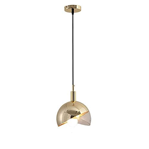 Ksovv Luces Colgantes de Cristal de Bola Redonda de Lujo Lámpara de suspensión de Moda de Metal posmoderno Araña Restaurante Dormitorio Sala de Estar Comedor Bar Luz de Techo Colgante
