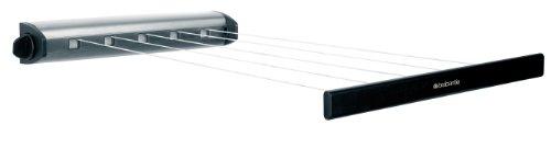 Brabantia 385766 - Tendedero extensible (hasta 4,4 m, superficie útil para tender de 22 m), acero
