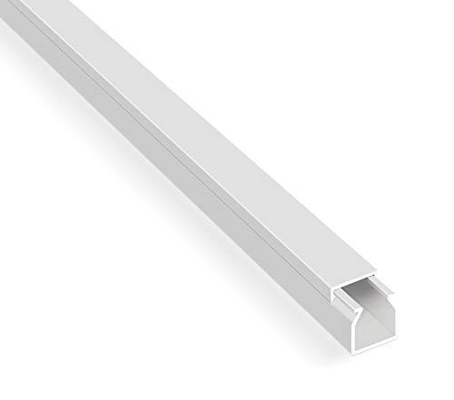 10m Kabelkanäle Selbstklebender Kabelkanal Weiß mit Schaumklebeband fertig für die Montage Kabelabdeckung (1,2 x 1,2 x 100 cm / 10 x 1m)