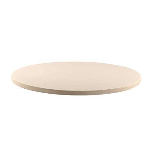 HLPIGF Piedra de Cerámica para Hornear Pizza de Piedra de Pizza de 12 Pulgadas/Bandeja, Parrilla y Horno-Resistente al Calor, Duradero y Seguro