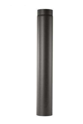Ofenrohr aus 2 mm starken Stahl (Rauchrohr) in 130 mm Durchmesser, für Kaminöfen und Feuerstellen, Senotherm, schwarz, 1000 mm lang