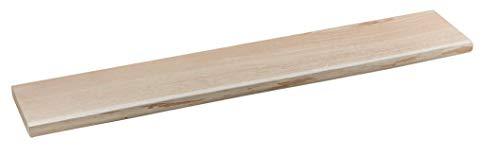 handgefertigtes Wandregal aus Eichenholz mit Baumkante, Regal für die Wand aus Holz ohne sichtbare Halterung, schwebendes Wandboard als echter Blickfang in jedem Raum, in verschieden Größen