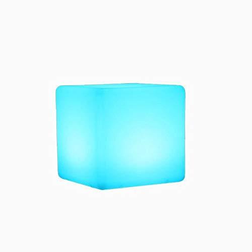 Schnurloser Ladebarer LED Cube Light Hocker, Outdoor Partyhocker LED Mood Cubic Stuhl Blei Fußstühle Home Decoration Nacht mit Fernbedienung Für Kinder, Zuhause, Garten, Dekor Schlafzimmer Weihnachtsb