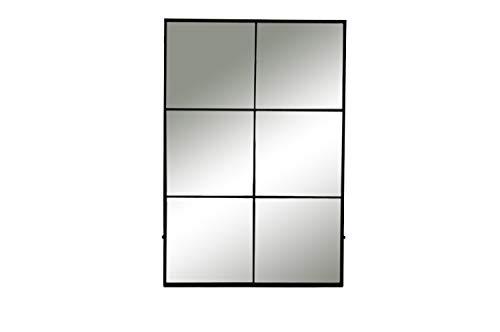 Wandspiegel Spiegel Standspiegel Industrial Loft Design 6 Parts aus Metall - Maße: L 80 x W 3,5 x H 118 cm