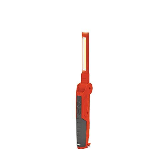KEINEMARKE 10823 Lámpara de Trabajo COB LED, 500 lúmenes, Plegable, Recargable con USB, magnética, para Coche, Taller, Rojo y Negro