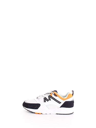 Karhu Sneaker Fusion 2.0 in Pelle E Suede Bianco, Blu E Arancione