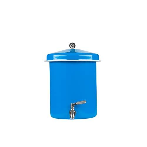 Ecofiltro Purificador Dispensador y Filtro de Agua Peltre Mini (05.5 L) Celeste Ecológico con Carbón Activado para Decoración de Casa, Oficina y Cocina #OlvídateDelGarrafón