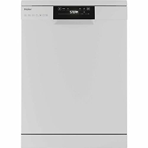 Haier FS4D520W - Lavavajillas de pie (60 cm), color blanco