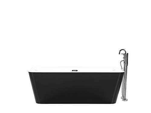 Badewanne rechteckig schwarz im minimalistischen Stil Hassel