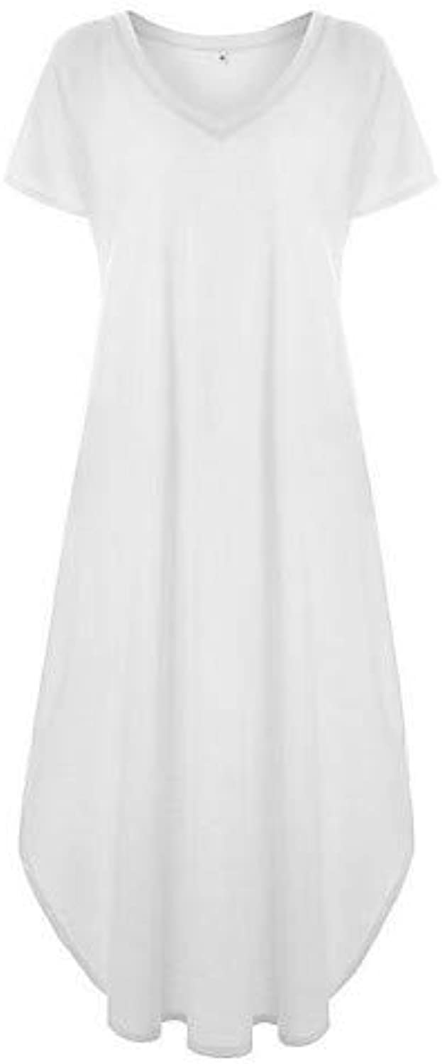 Women's Basic Swing Dress  Solid colord
