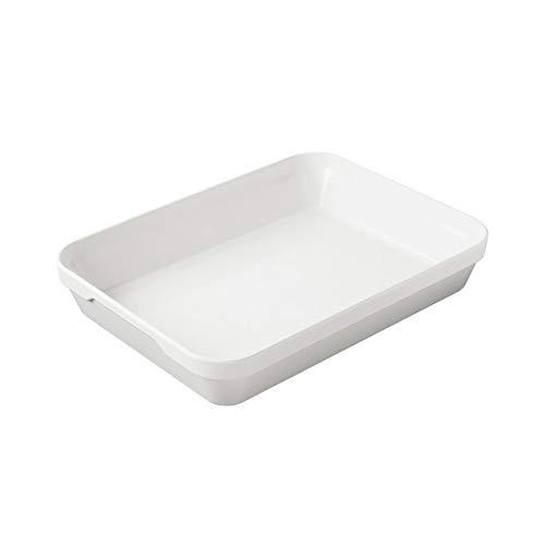 Revol - plat rectangulaire profond londres en porcelaine blanche - les essentiels Couleur - Blanc, Tailles - 34,5 x 26 x H. 6,5 cm - 300 cl