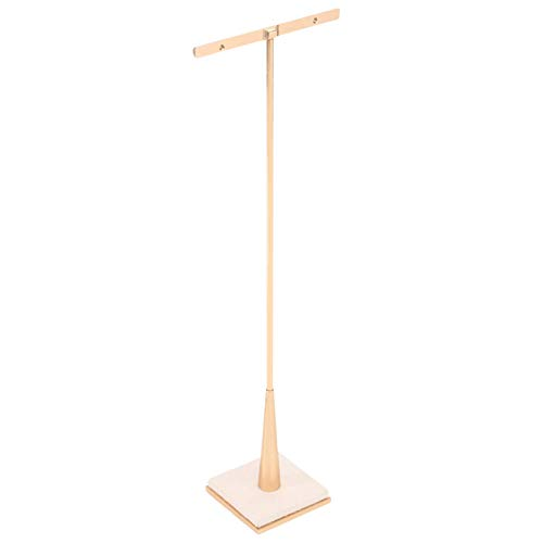 Earring Stand Jewelry T Bar Rose Gold Metal Earring Dispaly for Show Jewelry Photography Display Props Organizer (M)