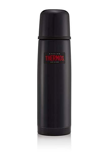 Thermos Thermoskanne/ Thermosflasche aus Edelstahl, leicht und kompakt, 0,5l, Mitternachtsblau, Glänzend