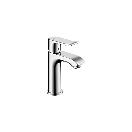 hansgrohe Metris Modern Upgrade Easy Install 1-Handle 1 6-inch Tall Bathroom Sink Faucet in Chrome, 31088001