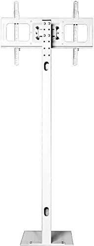 Soporte de coche para TV móvil, TV de escritorio 'Altura / ángulo ajustable marco de TV, hasta 600 x 400 mm, puede cargar 70 kg / 155 libras, color blanco