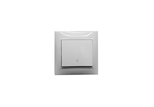 Conmutador empotrable serie premium color blanco. Intensidad 10A/250V.
