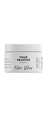 Four Reasons Fiber Wax For Structure & Hold- 100% Vegan Styling Fiber Rich Wax With Long-Lasting Flexible & Elastic Hold - Professional Hair Wax For Men & Women- Cruelty Free & Vegan - 3.38 fl. oz.