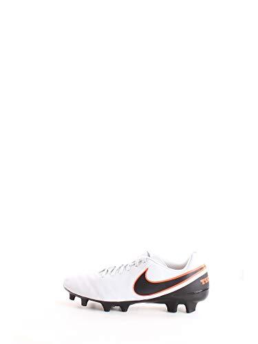 Nike Herren Tiempo Genio II Leather FG 819213 Fußballschuhe, Weiß (Pure Platinum/Black-Hypr Orng 001), 42 EU