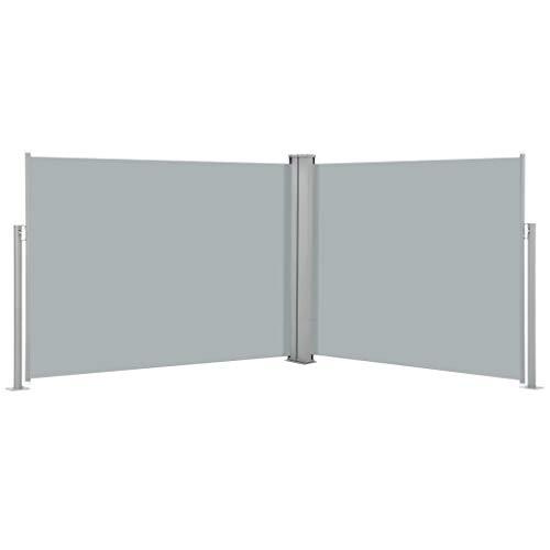FAMIROSA Ausziehbare Seitenmarkise Anthrazit 170 x 1000 cm